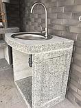 """Бетонний стіл мийка для вуличного каміна, барбекю """"Санта Фе"""", фото 4"""