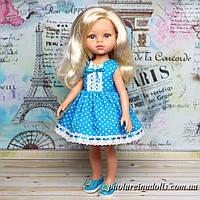 """Платье """"Голубые горошки"""" для кукол Паола Рейна"""