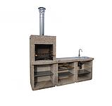 "Бетонный стол для уличного камина-барбекю ""Санта Фе"", фото 4"