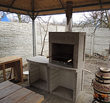 "Бетонный стол для уличного камина-барбекю ""Санта Фе"", фото 5"