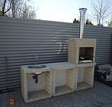 "Бетонный стол для уличного камина-барбекю ""Санта Фе"", фото 7"