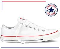 Белые низкие кеды Converse All Star low White (конверс, белые) женские и мужские / 1 в 1 с оригиналом