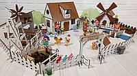 Сельский домик для кукол LOL с фермой, мельницей, мебелью и светом, фото 1