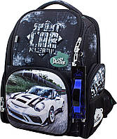 Рюкзак ортопедический школьный каркасный для мальчика 1-4 класса + сменка + часы Delune 11-033
