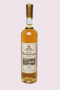 """Ексклюзивне медове вино """"Охтирська медівка з абрикосом ПаТронАт"""" 0,75 л, 13%"""