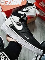 ДЕМИСЕЗОН! Мужские кроссовки Nike Air Force 1 Hight LV8 black/white, фото 1