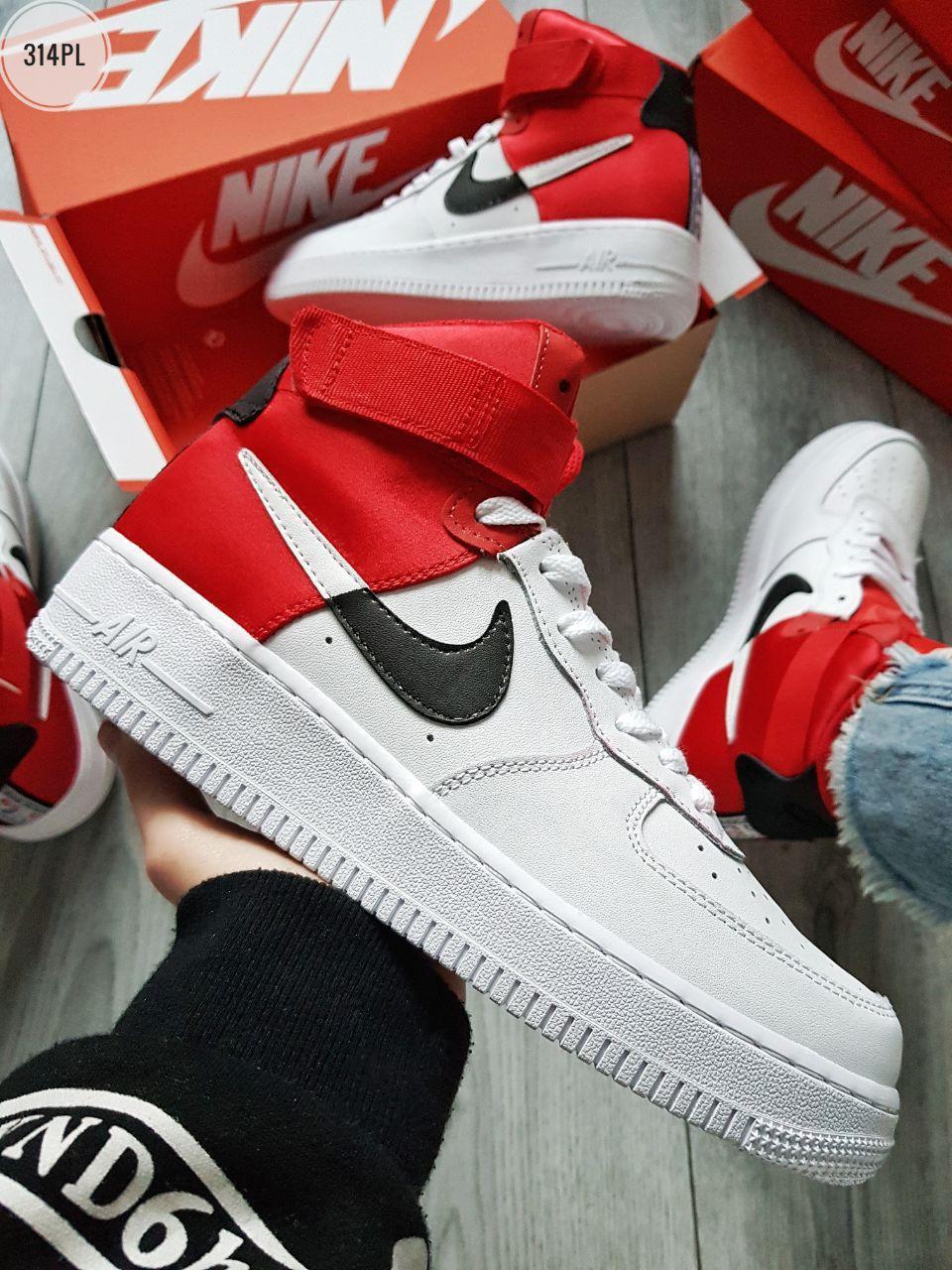 ДЕМИСЕЗОН! Мужские кроссовки Nike Air Force 1 Hight NBA red/white