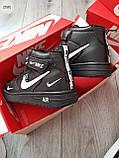 ДЕМИСЕЗОН! Мужские кроссовки Nike Air Force Hight Black/White, фото 3