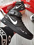 ДЕМИСЕЗОН! Мужские кроссовки Nike Air Force Hight Black/White, фото 6