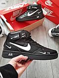 ДЕМИСЕЗОН! Мужские кроссовки Nike Air Force Hight Black/White, фото 7