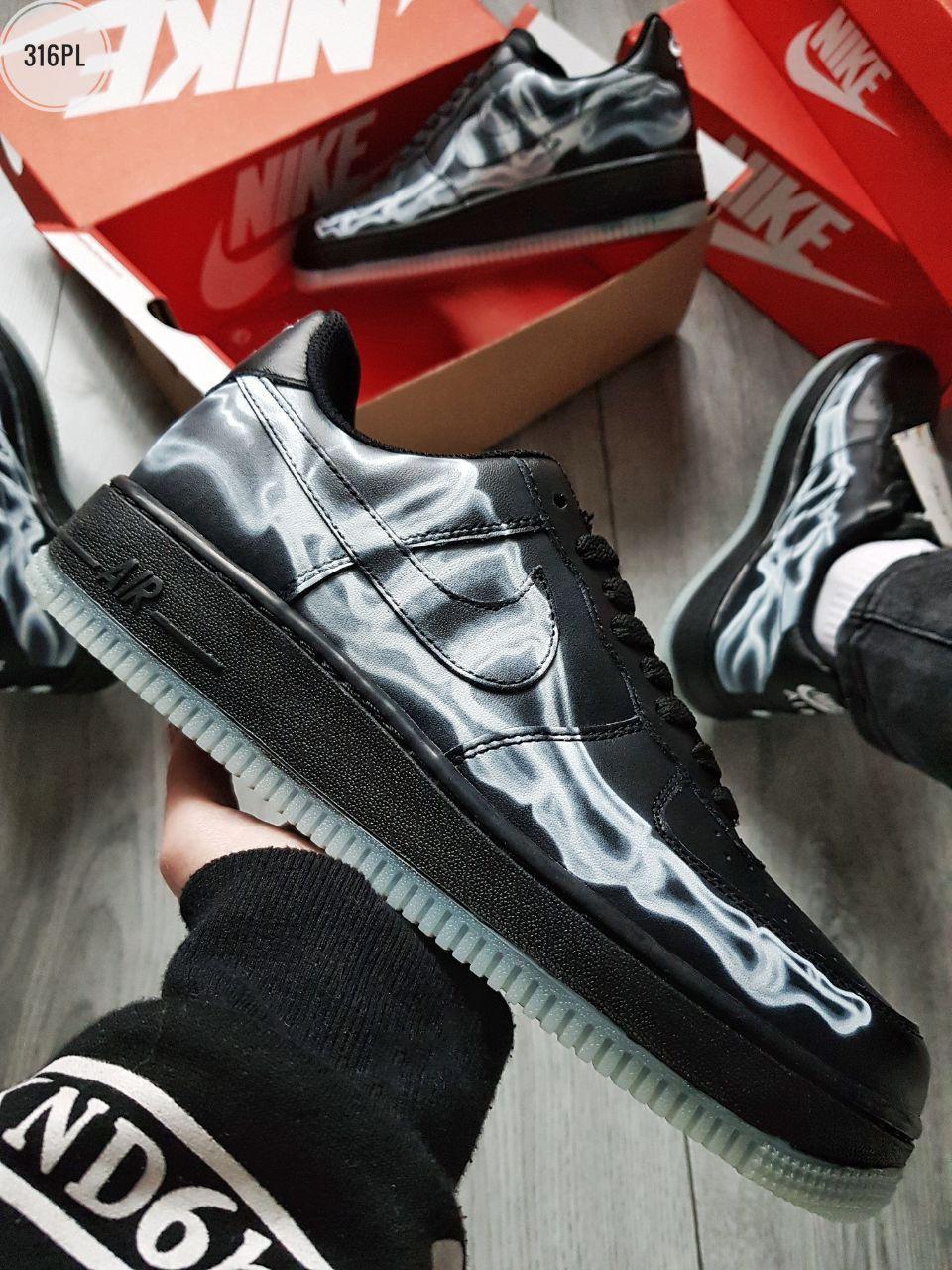 ДЕМИСЕЗОН! Мужские кроссовки Nike Air Force Skeleton QS Black