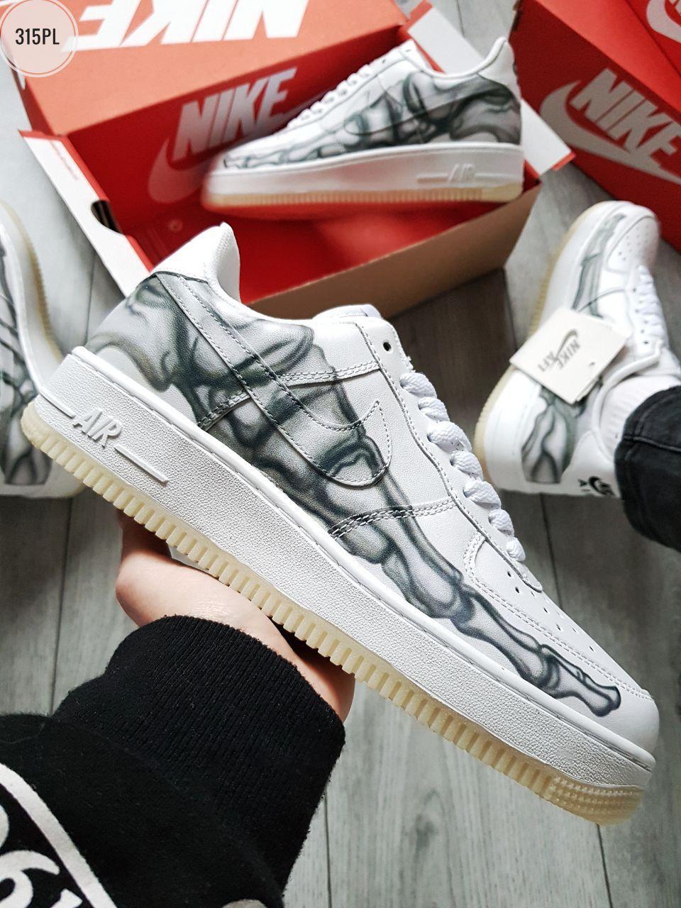 ДЕМИСЕЗОН! Мужские кроссовки Nike Air Force Skeleton QS White