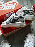 ДЕМИСЕЗОН! Мужские кроссовки Nike Air Force Skeleton QS White, фото 3