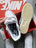 ДЕМИСЕЗОН! Мужские кроссовки Nike Air Force Skeleton QS White, фото 4