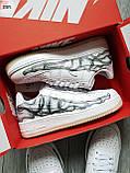 ДЕМИСЕЗОН! Мужские кроссовки Nike Air Force Skeleton QS White, фото 6