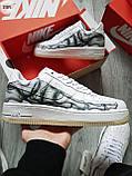 ДЕМИСЕЗОН! Мужские кроссовки Nike Air Force Skeleton QS White, фото 7