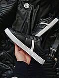 Мужская фирменная обувь Lacoste Black/White, фото 4