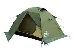Намет Tramp Peak 2 м, TRT-025-green. Палатка туристическая 2 месная. Намет туристичний