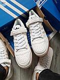 Мужские кроссовки Adidas forum mіd White, фото 2