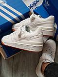 Мужские кроссовки Adidas forum mіd White, фото 3