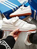 Мужские кроссовки Adidas forum mіd White, фото 4