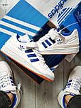 Мужские кроссовки Adidas forum mіd White Blue, фото 4