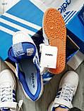 Мужские кроссовки Adidas forum mіd White Blue, фото 6