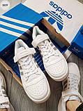 Мужские кроссовки Adidas forum mіd White/Silver, фото 2