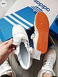 Мужские кроссовки Adidas forum mіd White/Silver, фото 3