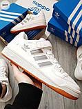 Мужские кроссовки Adidas forum mіd White/Silver, фото 5