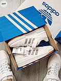 Мужские кроссовки Adidas forum mіd White/Silver, фото 7