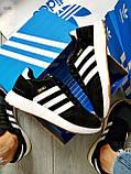 Мужские кроссовки Adidas iniki / black, фото 2