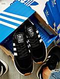 Мужские кроссовки Adidas iniki / black, фото 4