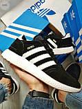 Мужские кроссовки Adidas iniki / black, фото 5