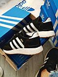 Мужские кроссовки Adidas iniki / black, фото 7