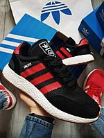 Мужские кроссовки Adidas iniki Black/Red