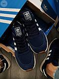 Мужские кроссовки Adidas iniki blue, фото 3