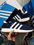 Мужские кроссовки Adidas iniki blue, фото 4