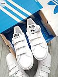 Мужские кроссовки Adidas STAN Smith CF White/Black, фото 2
