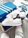 Мужские кроссовки Adidas STAN Smith CF White/Black, фото 3