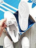 Мужские кроссовки Adidas STAN Smith CF White/Black, фото 4