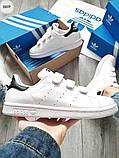 Мужские кроссовки Adidas STAN Smith CF White/Black, фото 5
