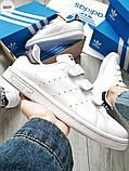 Мужские кроссовки Adidas STAN Smith CF White/Black, фото 6