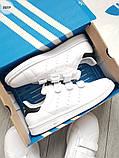 Мужские кроссовки Adidas STAN Smith CF White/Black, фото 7