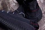 Мужские кроссовки Adidas Yeezy Boost 350 V2 Black, фото 8