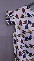Детское летнее  платье птички
