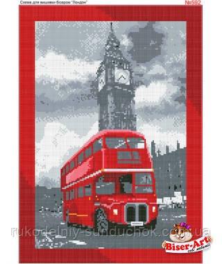 Схема для вишивки бісером (хрестиком) Бисер-Арт Лондонський автобус (592)