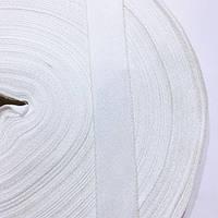 Тасьма репсова 20мм кол білий (уп 50м) р. 2349 Укр-з