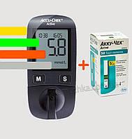Глюкометр Акку Чек Актив - Accu Chek Active+60 тест-полосок