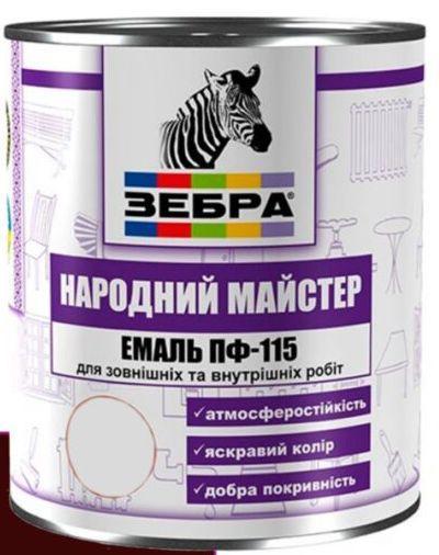 Емаль алкідна ПФ-115 Народний майстер 0,9кг №590 Чорна горобина
